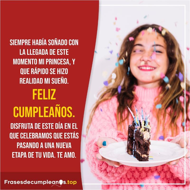 Felicitaciones de cumpleaños para una quinceañera